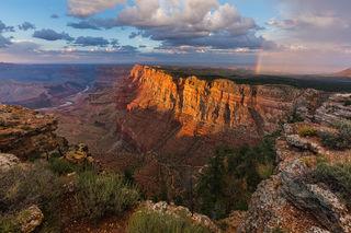 Arizona, Colorado River, Desert View, Grand Canyon, Monsoon, National Park, Painted, Palisades of the Desert, South Rim, Rainbow