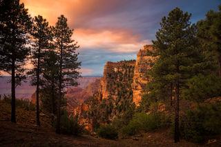 Angels Window, Arizona, Grand Canyon, National Park, North Rim, San Francisco Peaks