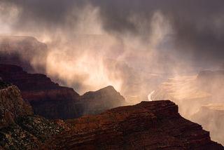 Grand Canyon, National Park, South Rim, Monsoon, Rain, Colorado River, Hopi Point, Apparition, Chasm