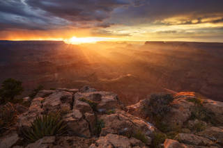 Arizona, Grand Canyon, Monsoon, National Park, Zuni Point, Sunset, South Rim