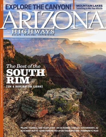 Arizona Highways,  July 2014 Cover