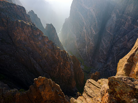 Black Canyon, Black Canyon of the Gunnison, CO, Colorado, Gunnison, Gunnison River, National Park, Painted Wall