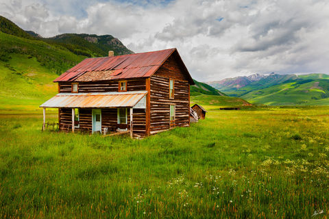 CO, Cabin, Colorado, Crested Butte, Homestead, Log cabin, Old Home, Ranch, Wildflowers