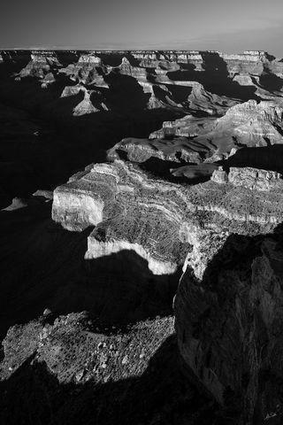 AZ, Arizona, Black & White, Grand Canyon, National Park, South Rim