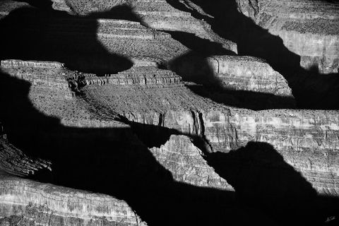 AZ, Arizona, Black & White, Grand Canyon, South Rim