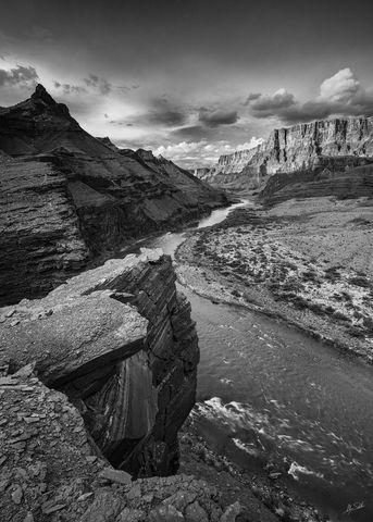 AZ, Arizona, Below the Rim, Black & White, Black and White, Colorado River, Expedition, Grand Canyon, Grand Canyon National Park...