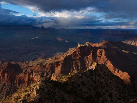 AZ, Arizona, Colorado River, Dramatic, Grand Canyon, Lipan Point, South Rim, Weather, storms
