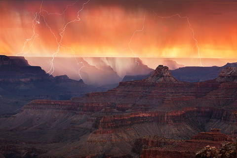 Arizona, AZ, Cape Royal, Grand Canyon, Lightning, Monsoon, National Park, North Rim, Storm, Weather, thunderstorm
