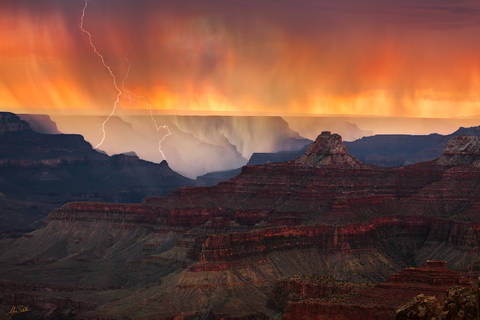 Arizona, Cape Royal, Grand Canyon, iPhone 6, Lightning, Monsoon, National Park, Rain, Retina HD, Thunderstorm, Sunset, North Rim