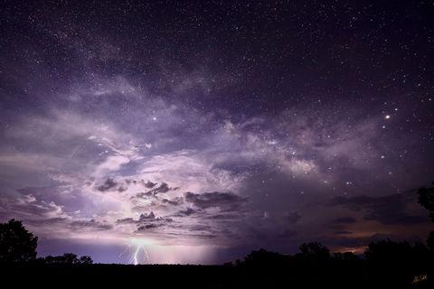 AZ, Arizona, Dark Sky, Grand Canyon, Lightning, Milky Way, Monsoon, National Park, Night, Night Sky, Ominous, South Rim, Stars, Summer, thunderstorm