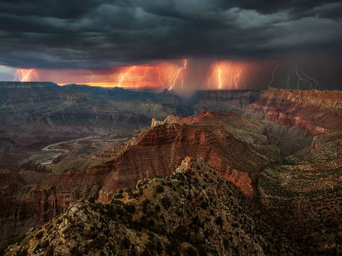 Photographing Lightning at Grand Canyon