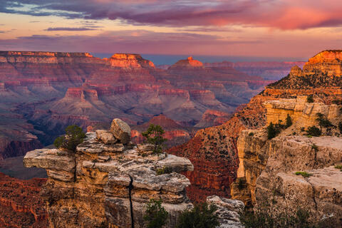 Grand Canyon, South Rim, Sunset, Mather Point