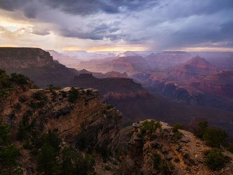 AZ, Arizona, Grand Canyon, Monsoon, National Park, South Rim, Sunset, Yavapai Point