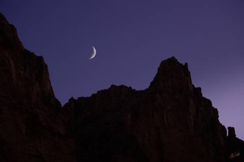 Arizona, Below the Rim, Colorado River, Crescent Moon, Grand Canyon, Grand Canyon National Park, Moon, National Park, River Trip