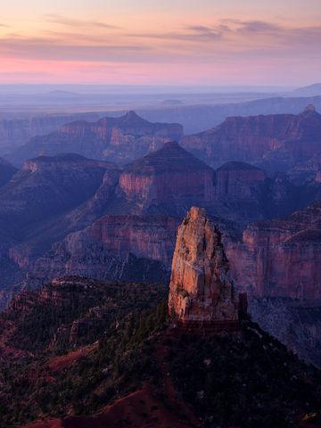 AZ, Arizona, Fuji, FujiFilm, GFX 50R, Grand Canyon, Mount Hayden, Mt. Hayden, National Park, North Rim, Point Imperial