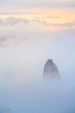 AZ, Arizona, Colorado Plateau, Grand Canyon, National Park, North Rim, Mount Hayden, Point Imperial, Inversion, Clouds