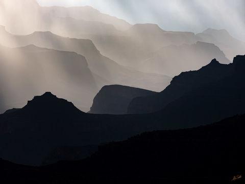 AZ, Arizona, Grand Canyon, Monsoon, National Park, Rain, South Rim, Yavapai Point