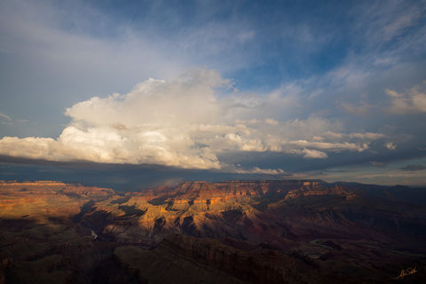 Colorado River, Grand Canyon, Lipan Point, Monsoon, National Park, South Rim, Storms, Thunder