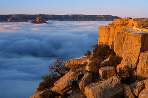 AZ, Arizona, Clouds, Grand Canyon, Inversion, National Park, South Rim, Temperature Inversion, Weather, Winter