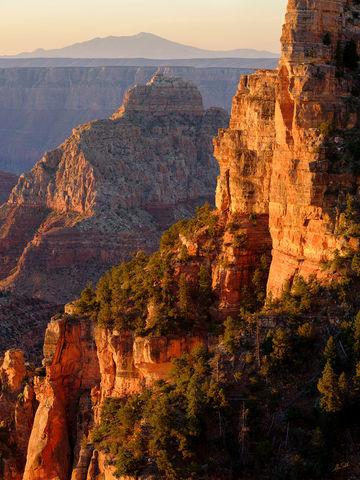 AZ, Arizona, Fuji, FujiFilm, GFX 50R, Grand Canyon, National Park, North Rim, San Francisco Peaks, Vishnu Temple, Walhalla Plateau