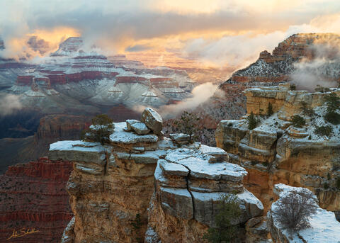 AZ, American Southwest, Arizona, Colorado Plateau, Grand Canyon, Grand Canyon National Park, Mather Point, National Park, Snow, Snow at the Grand Canyon, South Rim, South Rim of the Grand Canyon, Sout