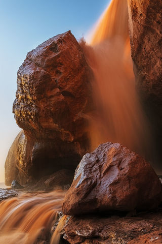 AZ, Arizona, Chocolate Falls, Grand Falls, Little Colorado River, Waterfall, spring