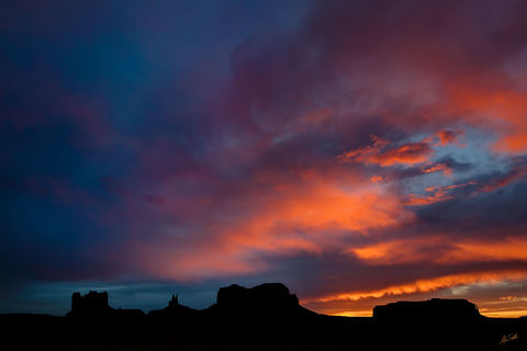 AZ, American Southwest, American West, Arizona, Colorado Plateau, Iconic, Mittens, Monument Valley, Navajo Nation, Southwest, Sunset over Monument Valley, Tribal Lands, Western, Western Lands