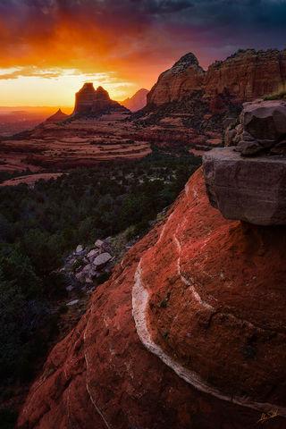AZ, Arizona, Schnebly Hill, Sedona, Sunset
