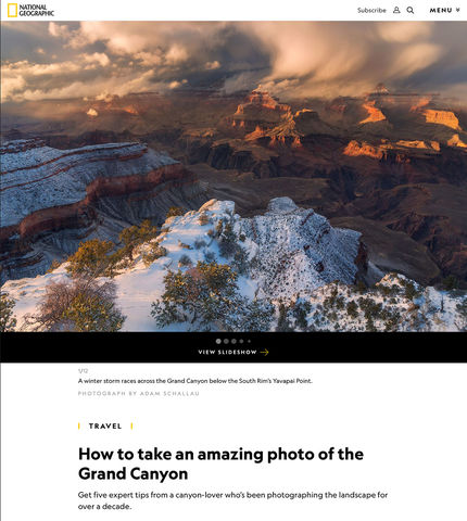 National Geographic - Photographing the Grand Canyon