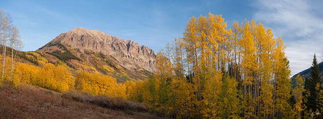 Morning Light on Gothic Mountain Panoramic