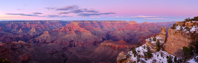 Earth Shadow Rising over the Canyon Panoramic