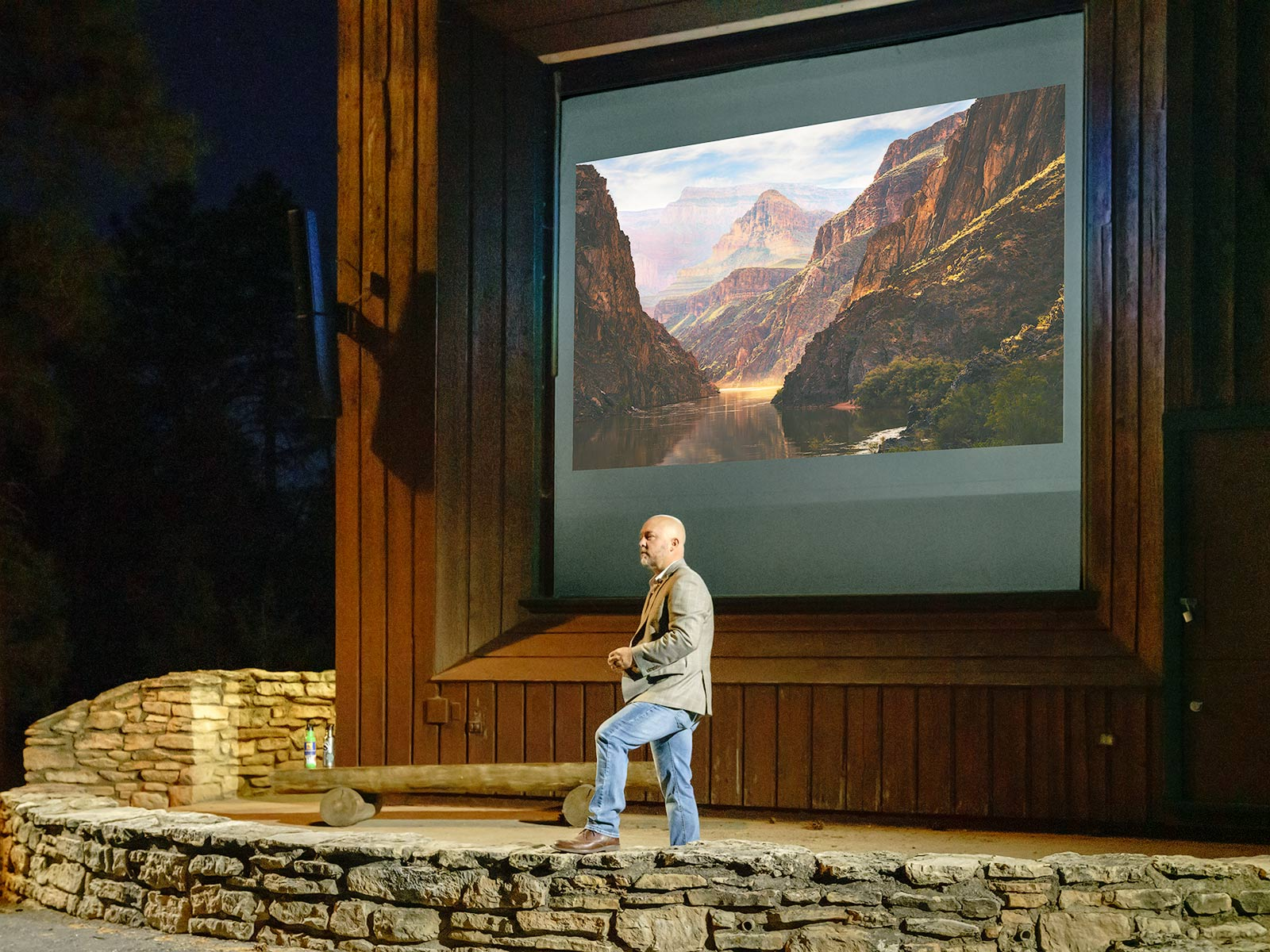 Adam Schallau, Grand Canyon, McKee Amphitheater, Presentation, South Rim, photo