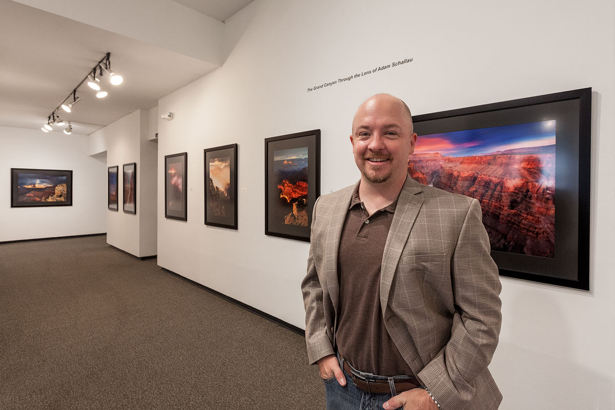At the Fort Worth Art Center for my exhibit 'Grand Canyon Through the Lens of Adam Schallau.' This exhibit was one of two in...