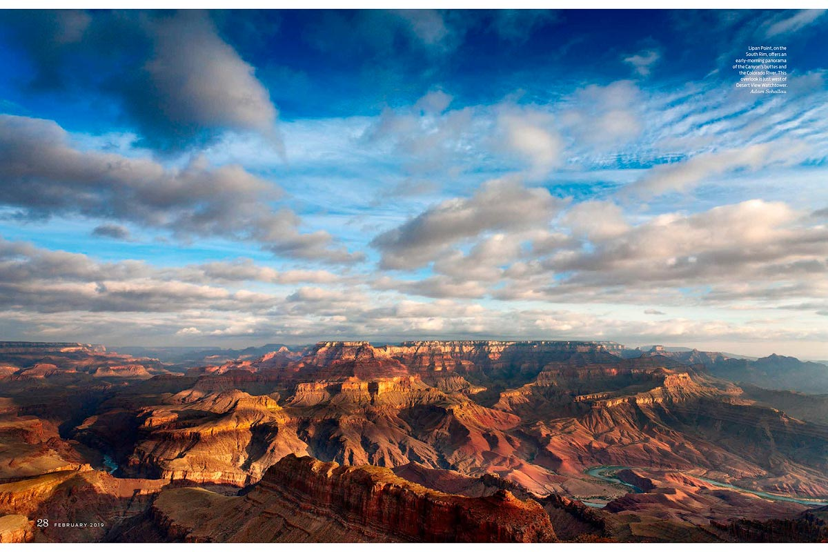 Pages 28 & 29.Sunrise from Lipan Point on the South Rim of the Grand Canyon.
