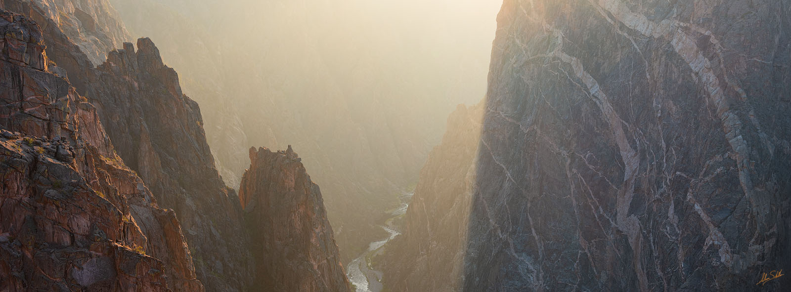 Black Canyon, Black Canyon of the Gunnison, CO, Colorado, Gunnison, Gunnison River, National Park, Painted Wall, Pano, Panorama, Panoramic, photo