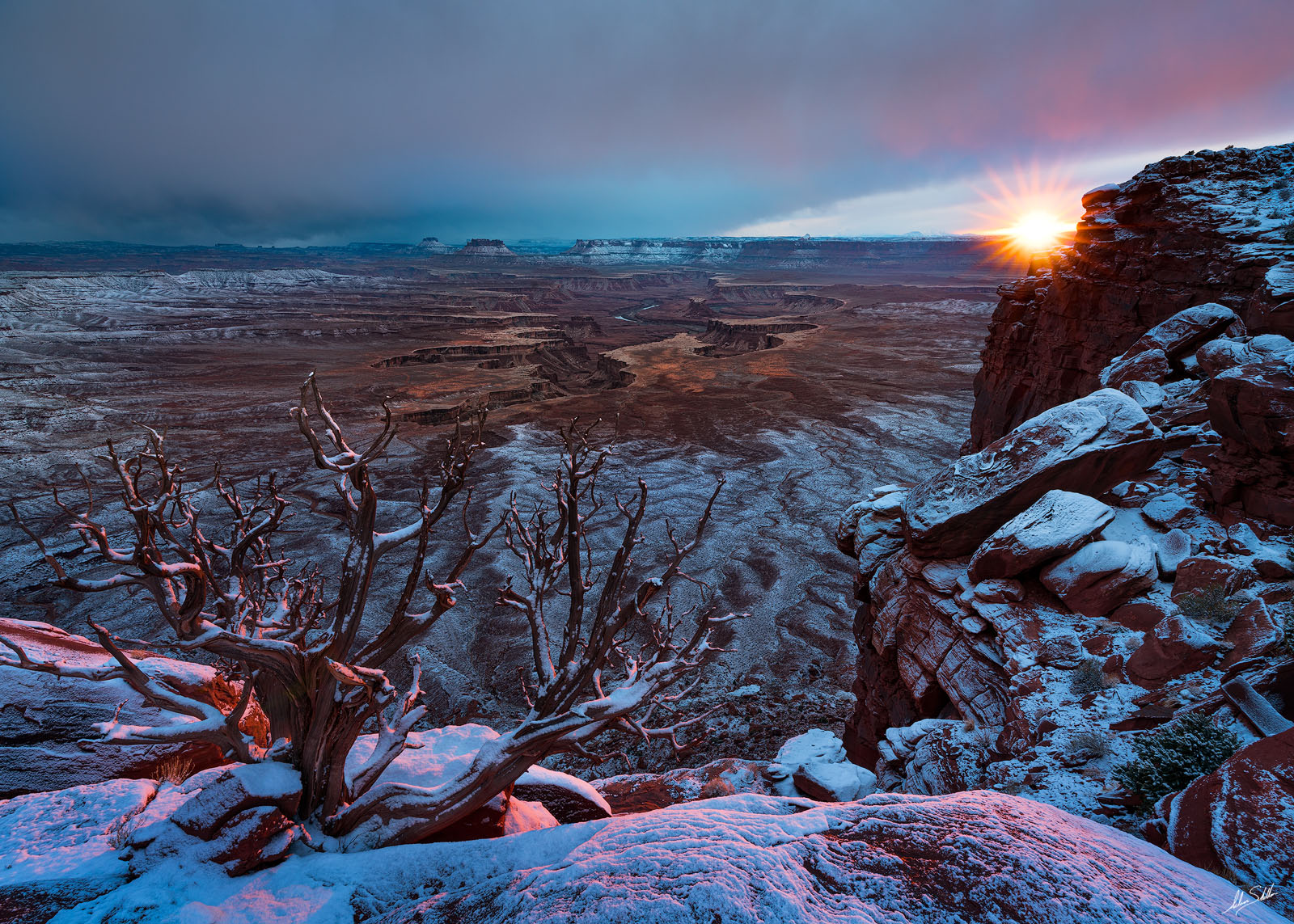 Canyonlands, Canyonlands National Park, Green River Overlook, Island in the Sky, Moab, National Park, UT, Utah, Winter, photo