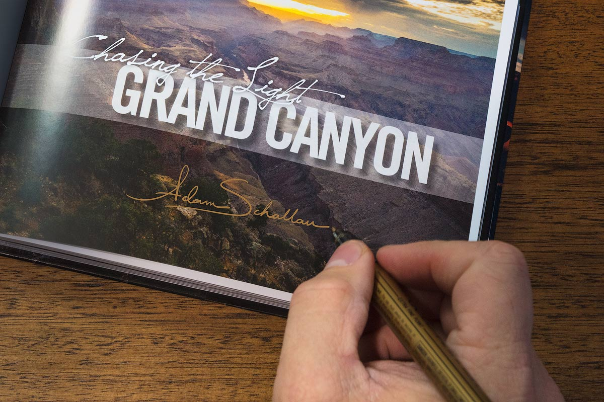 Chasing the Light, Grand Canyon, Book, Photography, Photos, Gift, Coffee Table, Signed, photo
