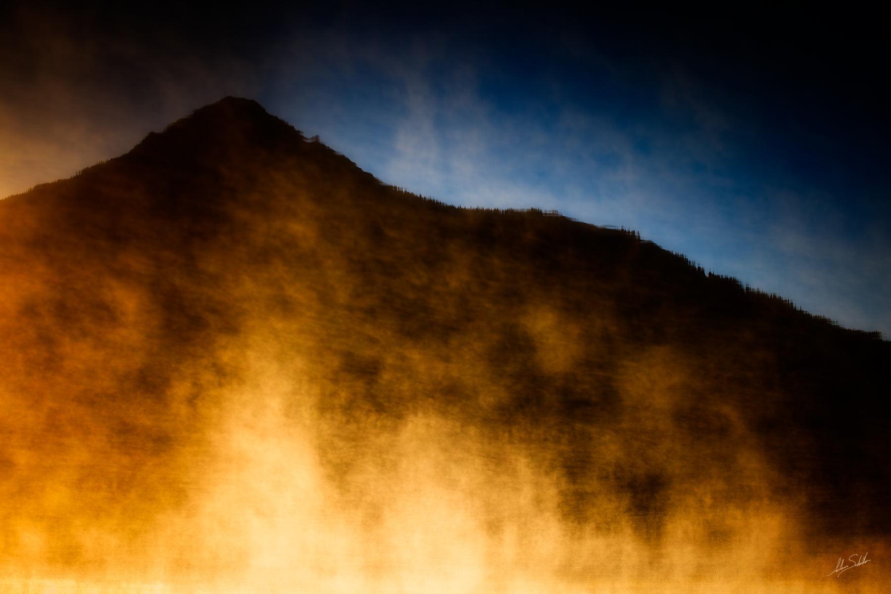 Colorado, Crested Butte, Fog, Peanut Lake, Fog, photo