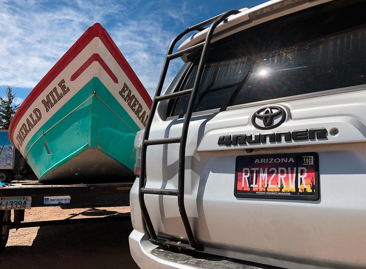 Grand Canyon, dory, boat, emerald mile, 4runner, flagstaff, arizona, photo