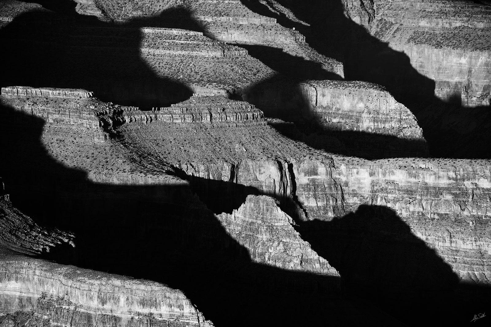 AZ, Arizona, Black & White, Grand Canyon, South Rim, photo