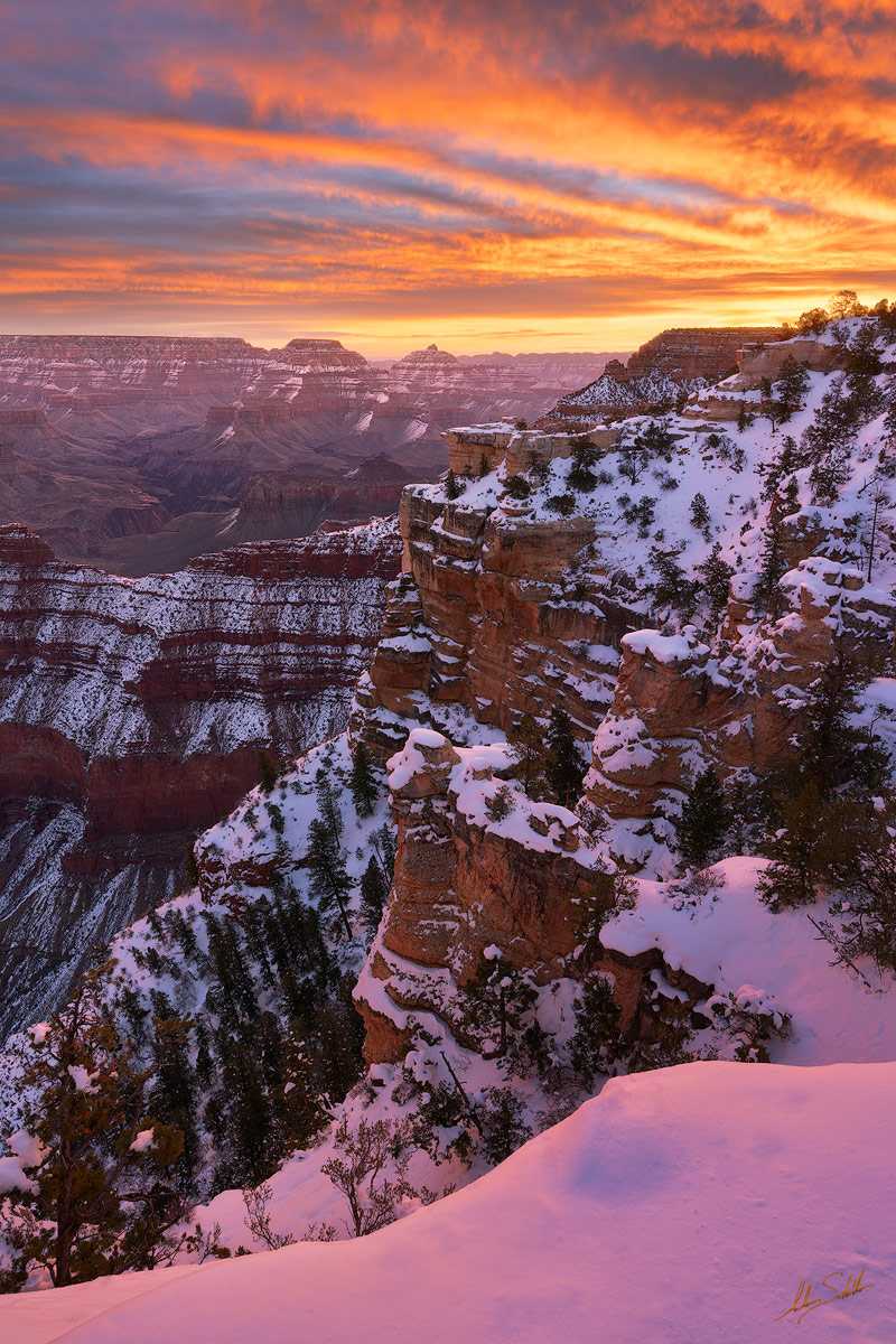 AZ, Arizona, Grand Canyon, Grand Canyon National Park, National Park, Snow, Snow at the Grand Canyon, South Rim, South Rim of the Grand Canyon, Winter, Winter at the Grand Canyon, photo