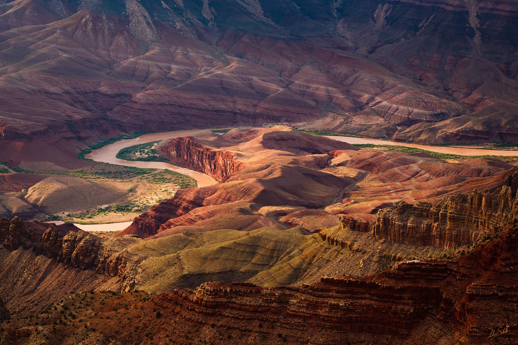 Arizona, Colorado River, Grand Canyon, National Park, South Rim, Unkar Delta, Lipan Point, photo
