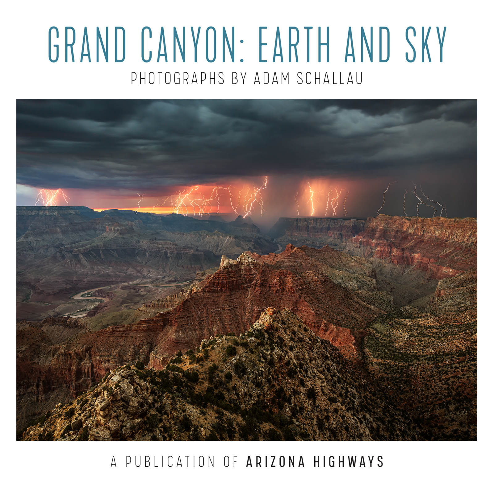 Arizona Highways, Grand Canyon, Book, Earth, Sky, Lightning, photo