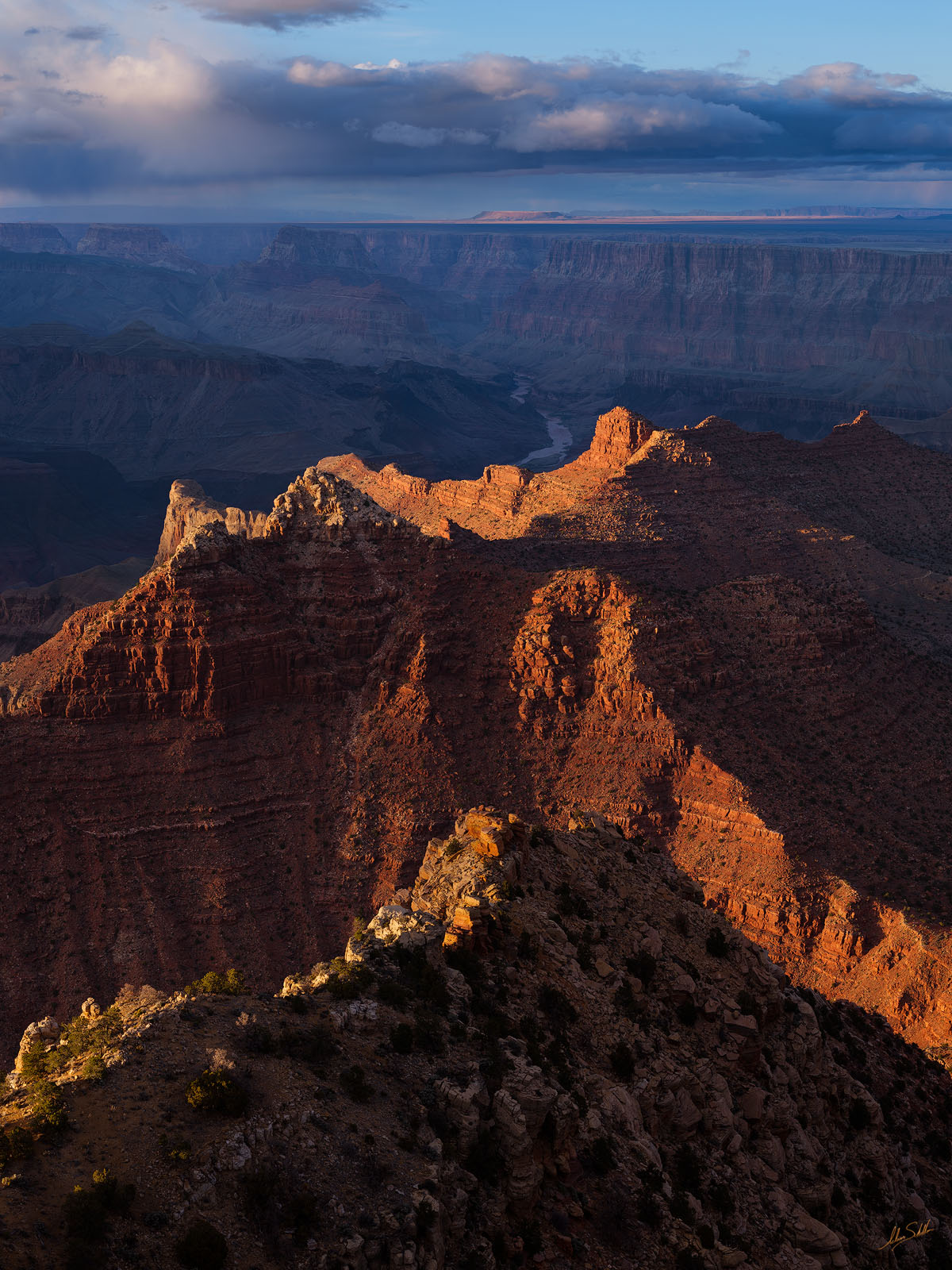AZ, Arizona, Cardenas Butte, Escalante Butte, Colorado River, Grand Canyon, Lipan Point, National Park, South Rim, photo