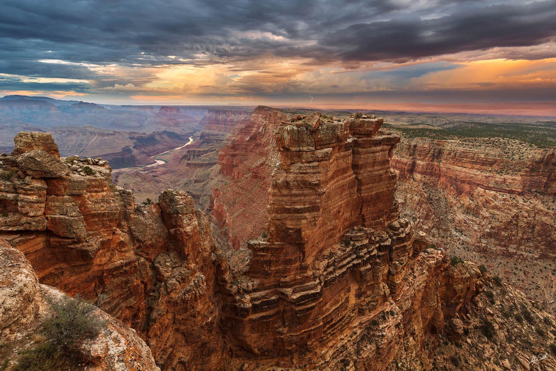 AZ, Arizona, Colorado River, Grand Canyon, Lightning, Monsoon, National Park, Painted Desert, South Rim, Storm, Summer, thunderstorm, photo