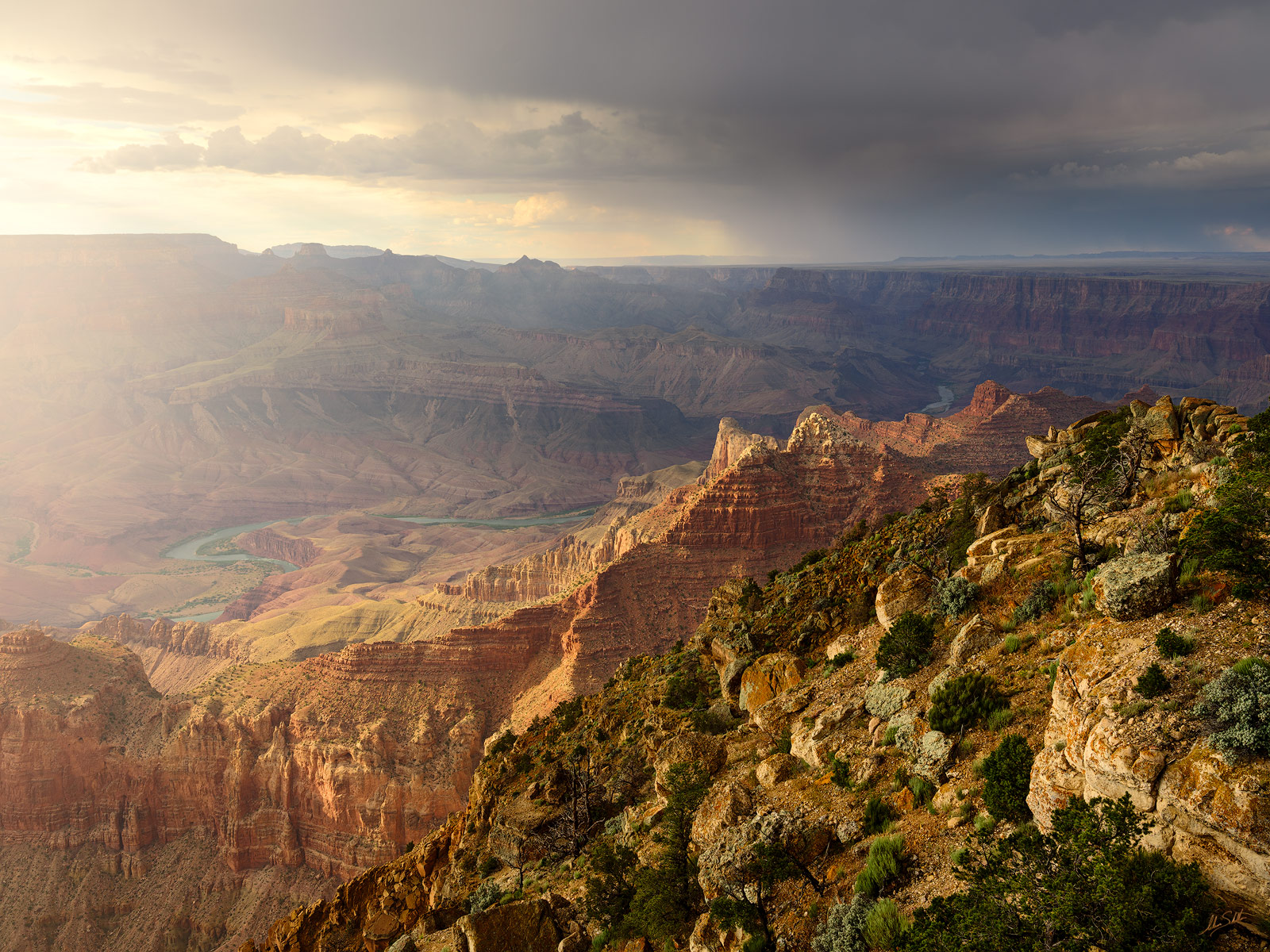 AZ, Arizona, Cardenas Butte, Colorado River, Escalante Butte, Fuji, Fujifilm, GFX 50R, Grand Canyon, Lipan Point, Monsoon, Monsoon Season, National Park, South Rim, Unkar Delta, photo