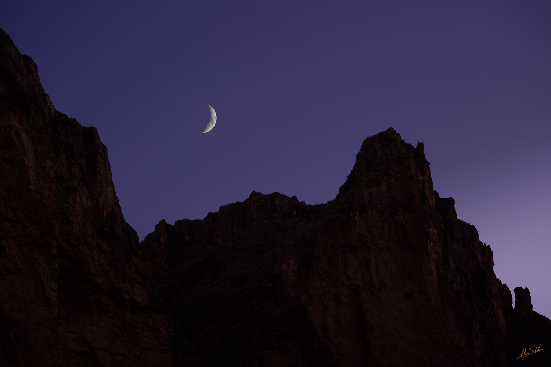 Arizona, Below the Rim, Colorado River, Crescent Moon, Grand Canyon, Grand Canyon National Park, Moon, National Park, River Trip, photo