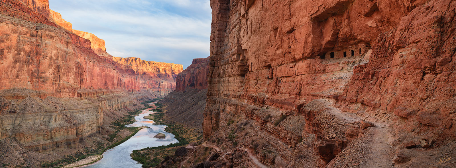 The Nankoweap granaries and Colorado River in Marble Canyon. Grand Canyon National Park. © Adam Schallau, All Rights Reserved...