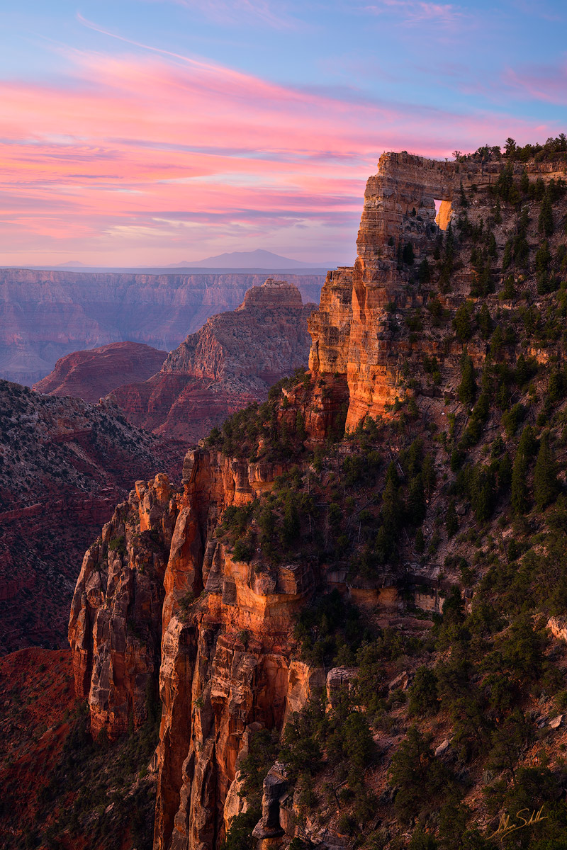A quiet sunrise at Angels Window on the North Rim of Grand Canyon National Park. Photo © Adam Schallau, All Rights Reserved.