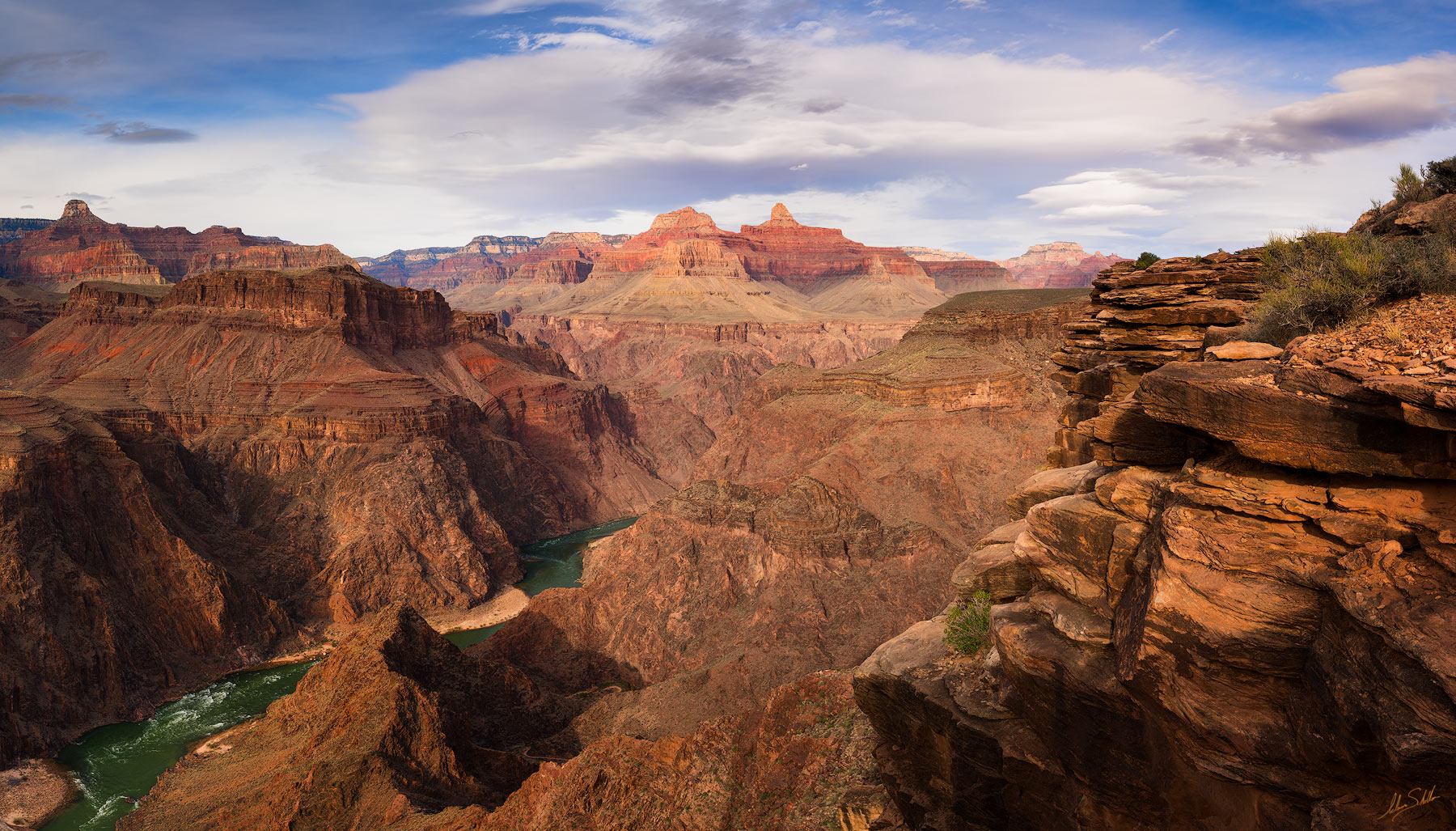 Grand Canyon, National Park, Plateau Point, Colorado River, Below the Rim, Arizona, Inner Gorge, Granite Gorge, photo